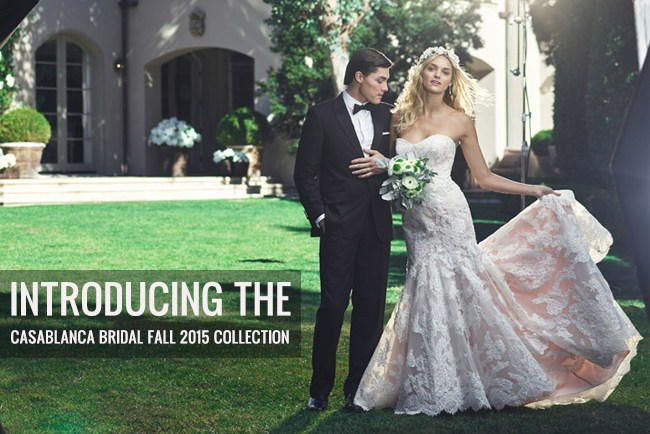 casablanca bridal fall 2015 Collection