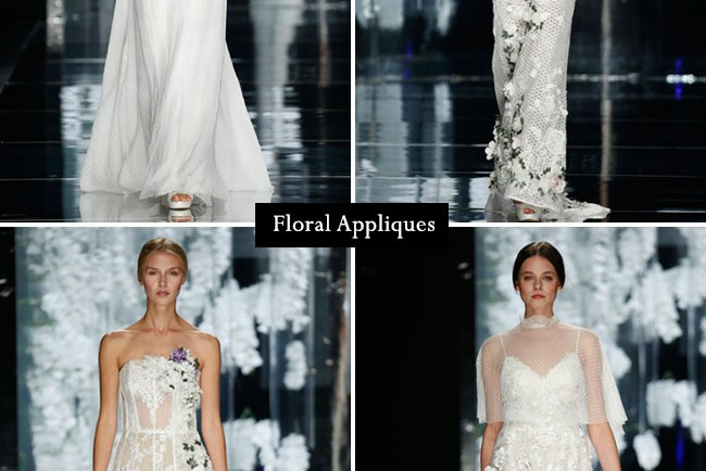floral appliques from barcelona bridal week