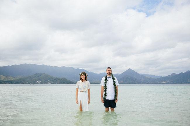 Hawaii Sandbar Wedding
