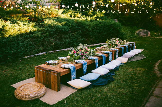 10 Tips To Throw A Boho Chic Outdoor Dinner Party Green