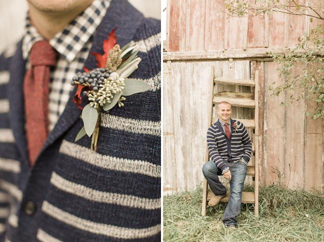 sweater boutonniere