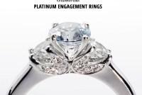 glam platinum engagement rings