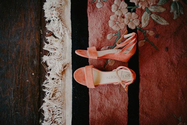 peach heels