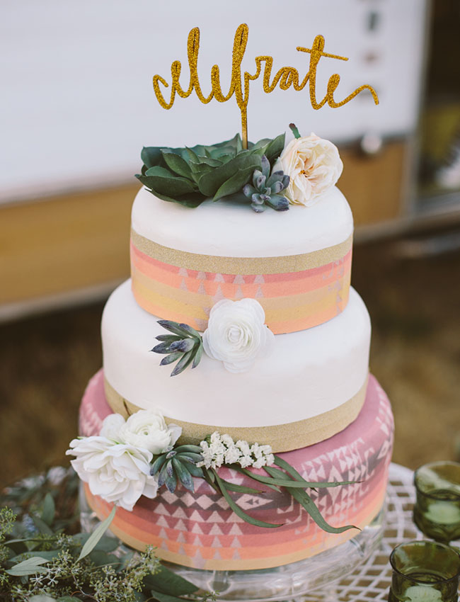 Eclectic Vintage Cake