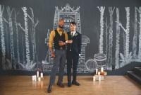 chalkboard fireplace backdrop