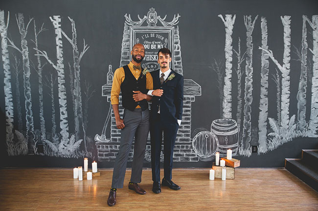 chalkboard fireplace backdrop