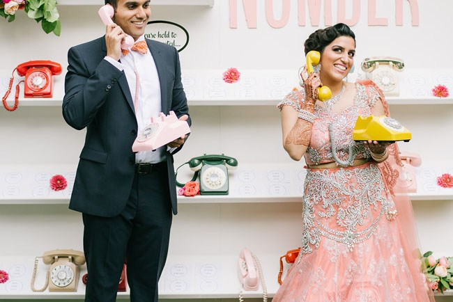 Whimsical Retro Wedding