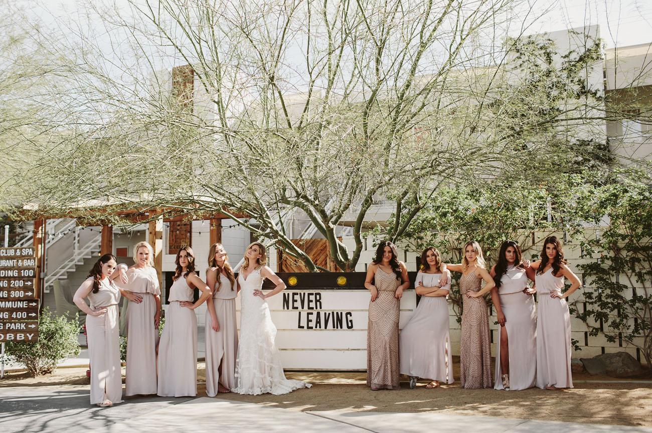 Boho Modern Palm Springs Wedding
