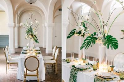 Modern Art Deco Wedding Inspiration - Green Wedding Shoes