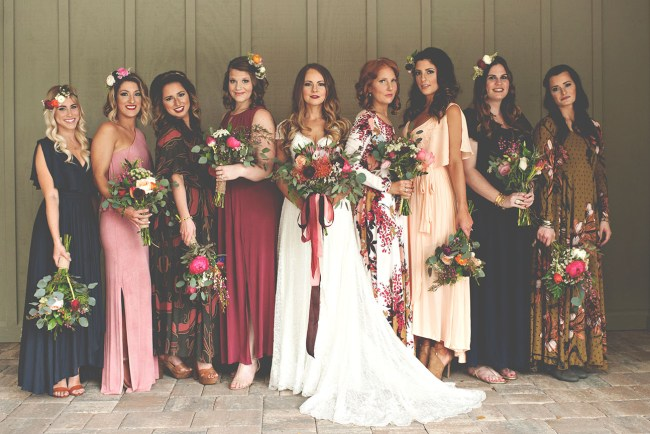 jewel tone bridesmaids