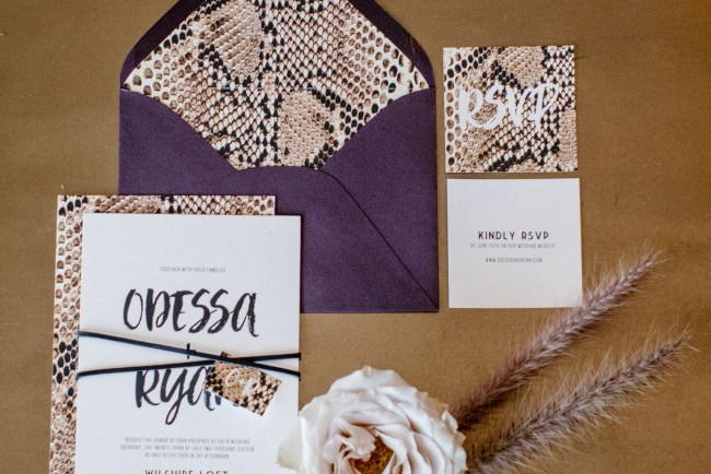 snakeskin invitation