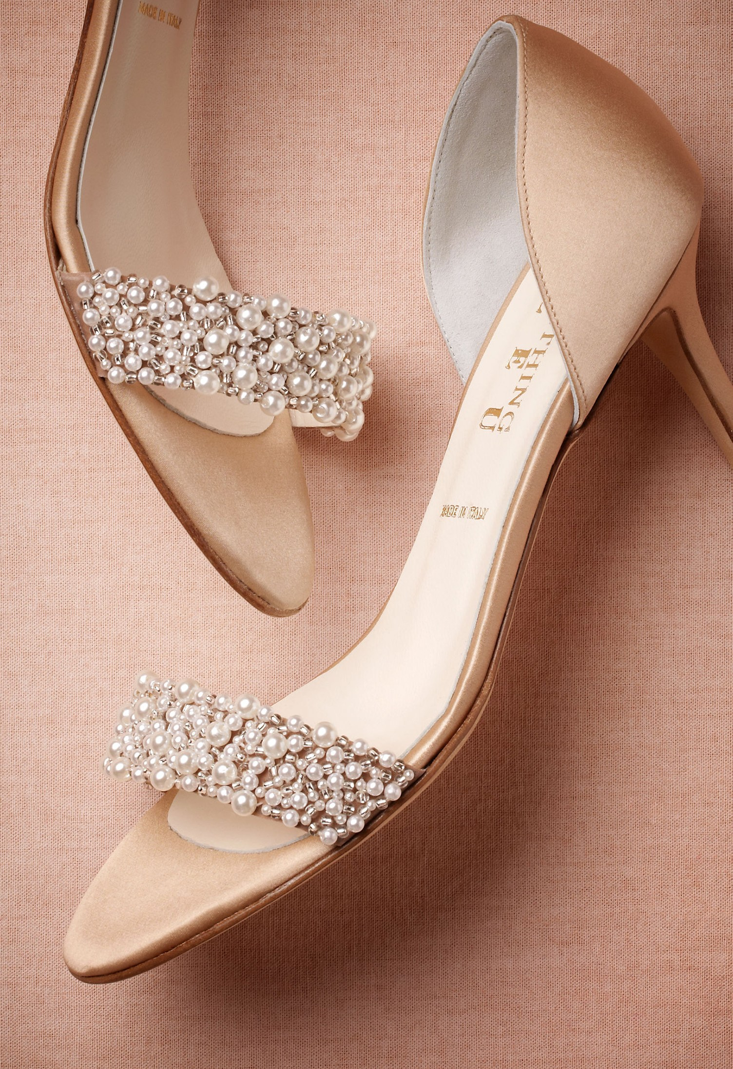 Oyster Bed DOrsays Green Wedding Shoes