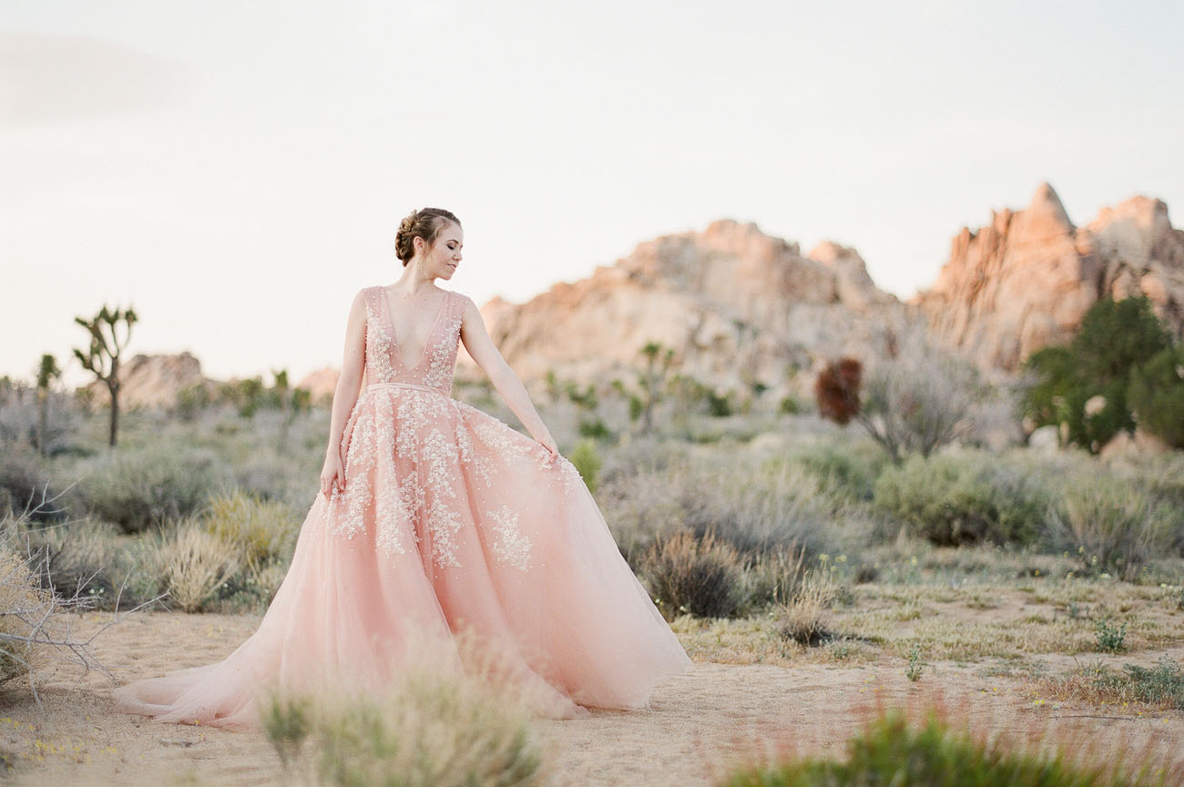 Pink Dress in the Desert