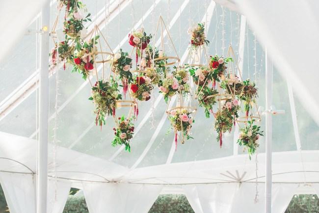 hanging geometric florals