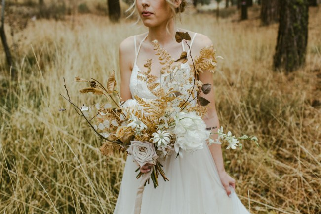 whimsical forest bouquet