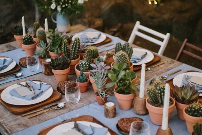 cactus table runner