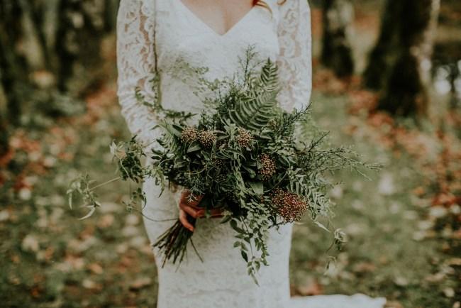 winter greenery bouquet