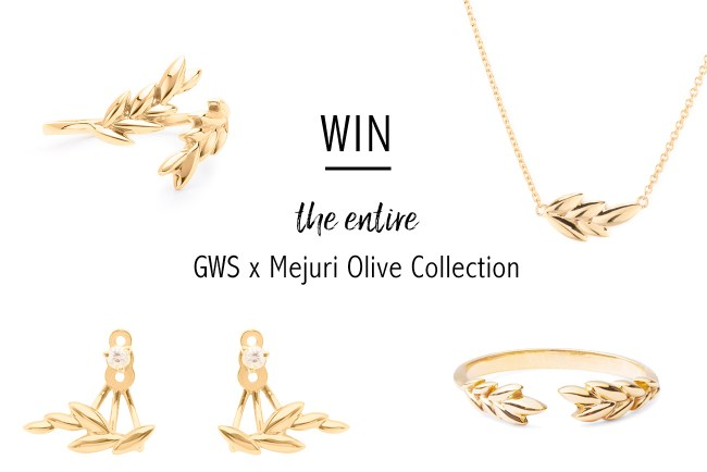 win the entire GWSxMejuri Olive collection