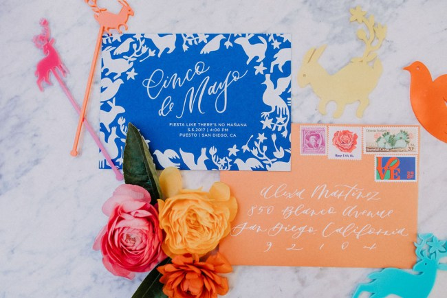 colorful invitation