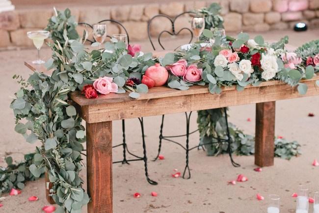 romantic sweetheart table