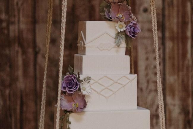 macrame wedding cake