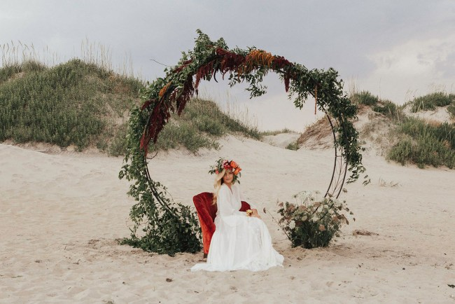 Bohemian Coquina Beach Bridal Session