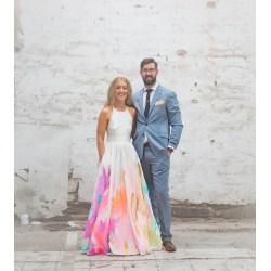 Small Crop Of Rainbow Wedding Dress