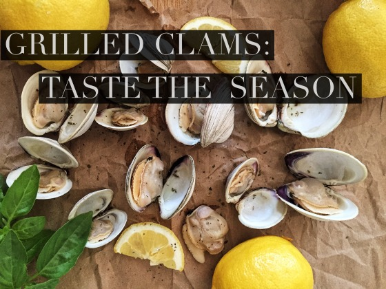 Grilled clams to taste the season of summer.