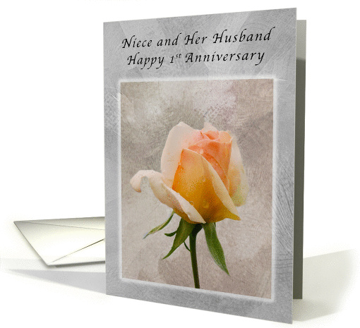 Birthday Card For Husband Happy 1st Anniversary, For Niece And Her Husband, Fresh