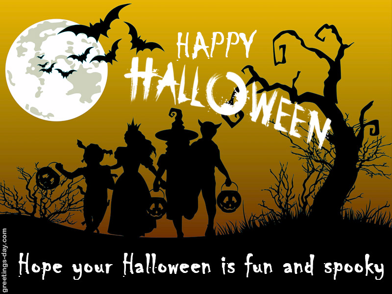 Good Afternoon Wallpaper With Quotes Happy Halloween Online Greeting Cards