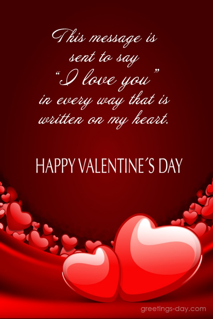 Valentine\u0027s Day ❤ card messages to Him Sent Cards to Social