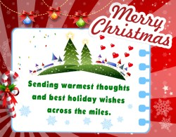 Nice Holiday Greetings Across Miles Andwishing You A Very Merry A Happy New Greeting Cards Husband Or Sending Warmest Thoughts