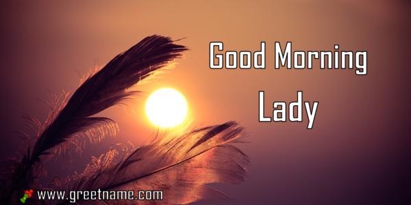 3d Wallpaper Name Rahul Good Morning Lady Sunrise Greet Name