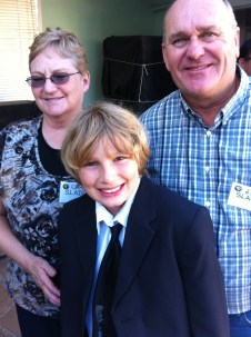 Carol Slade, daughter of Chuck Sharp, another of China's Wings most important characters, with her husband Jeff and my son, Ryan.