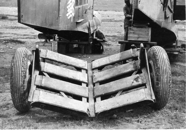The dolly used to get the Loening in and out of the river at Chungking, 1938