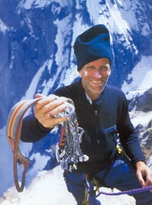 Your lead, kid. (The Bourbon Bottle Route, Ruth Gorge, AK, 1996. Amazingly, I still use some of that gear.)