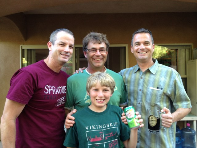John Sprague, Gregory Crouch, Dave Saunders, and Ryan Crouch
