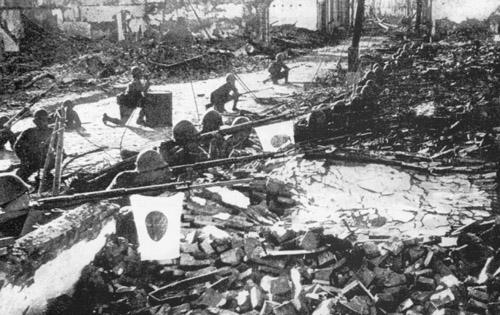 Japanese troops in Shanghai