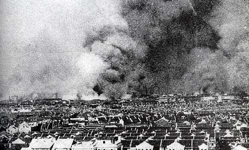 Shanghai burns, August 1937