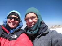 on top with Mary Ann Dornfeld