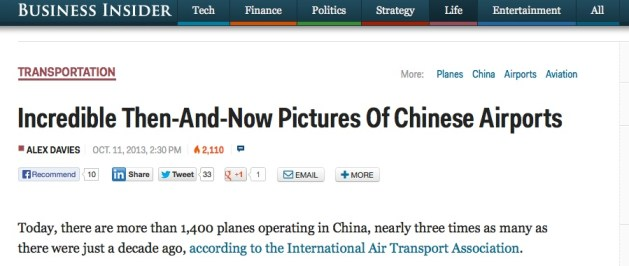 Chinese airports copy