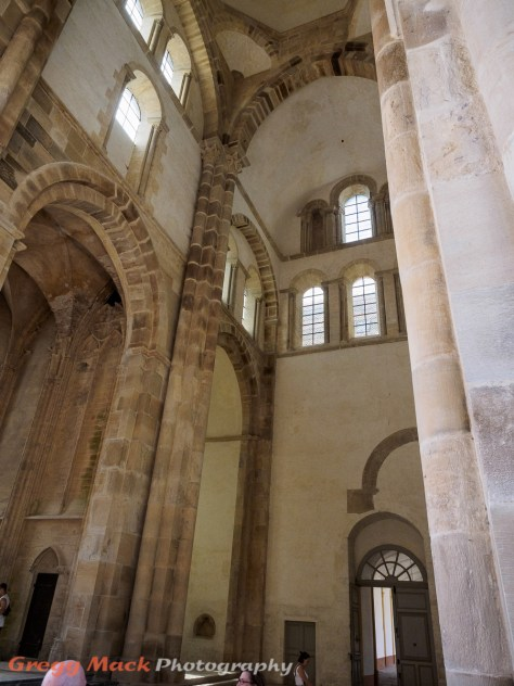 Cluny Abbey was built in 3 sections, from the 10th to the early 12th centuries