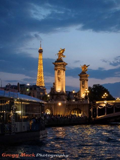 Boat ride on the Seine River through downtown Paris