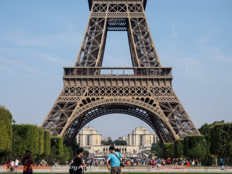 The Eiffel Tower in the morning.