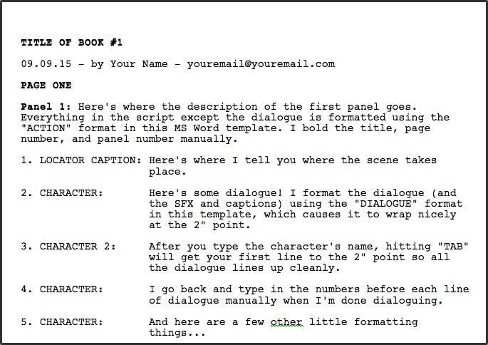 GREG PAK u2022 comic book writer u2022 filmmakerDownloadable MS Word comic - microsoft word book template