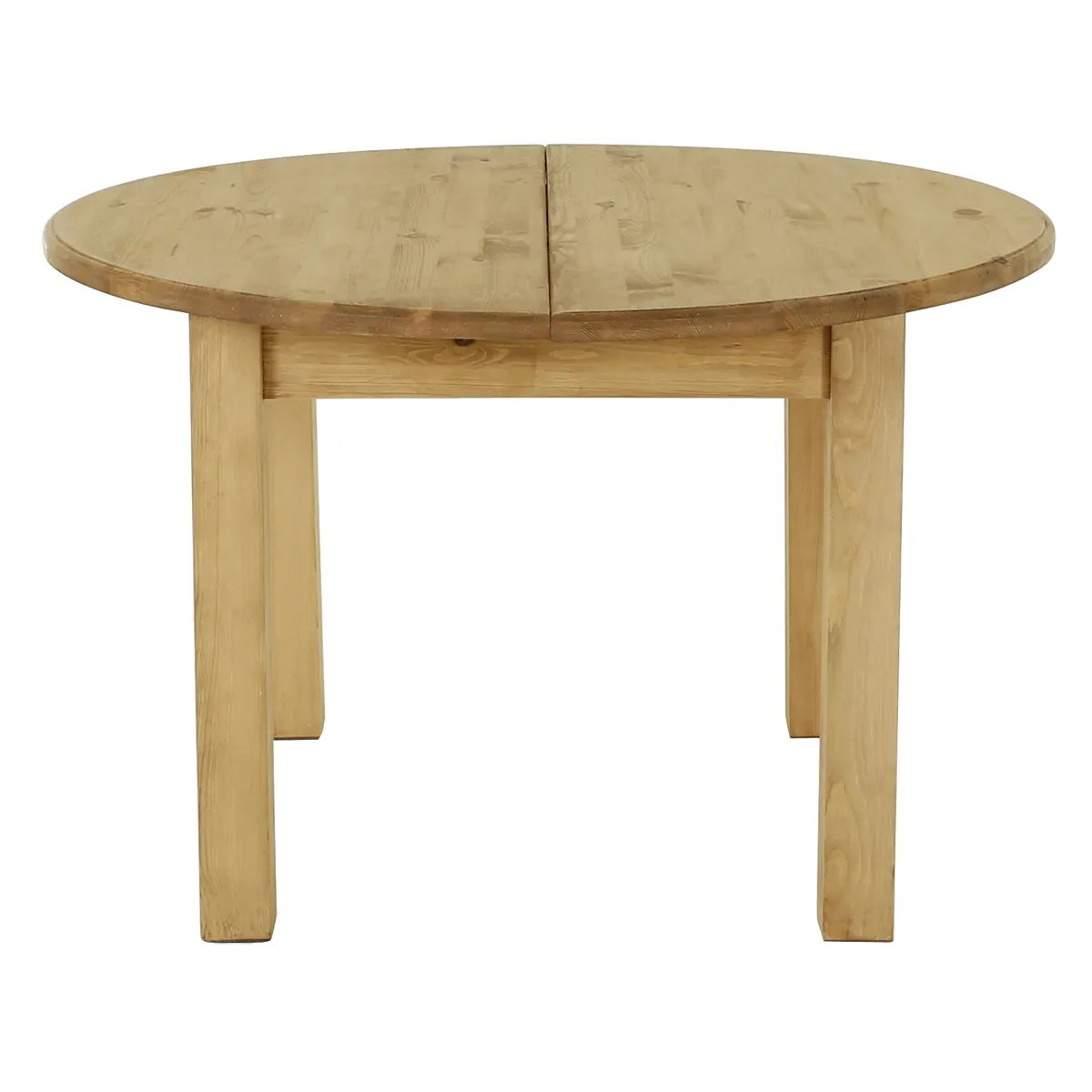 Table Ronde Massif Table Ronde Rustique En Pin Massif 120 Cm Rallonge 40 Cm Farmer