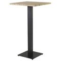 Table Bistrot Carre Table De Bar Bistrot Plateau Carré Pin 60 X 60 Cm