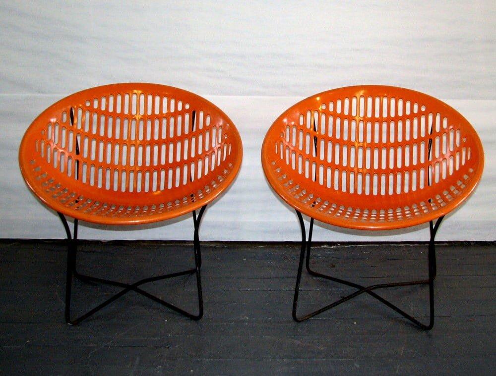 Solair Round Orange Chairs Gre Stuff