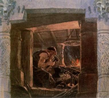 wayland's smithy, max koch, 1902