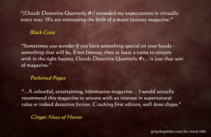 occult detective quarterly reviews